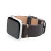 Mocha Genuine Alligator Flank Cut Watch Band For Apple Watch   Panatime.com