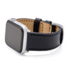 Black Russian Leather Watch Band for Apple Watch | On Watch