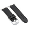 Black Russian Leather Watch Band for Apple Watch | Side-by-Side