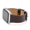 Mocha Russian Leather Watch Band for Apple Watch | Match Stitching | On Watch