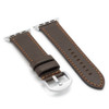 Mocha Russian Leather Watch Band for Apple Watch | Match Stitching | Side-by-side