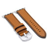 Honey Russian Leather Watch Band for Apple Watch | Black Stitch | Side-by-side