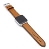 Honey Russian Leather Watch Band for Apple Watch | Black Stitching
