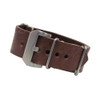 Dark Brown Italian Panerai Style Vintage Leather One-Piece Watch Strap | Panatime.com