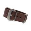 Dark Brown Italian Panerai Style Vintage Leather One-Piece Watch Strap | Panatime.com