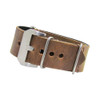 Distressed Brown Loco Horse Panerai Style Vintage Leather One-Piece Watch Strap | Panatime.com