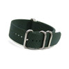 Dark Green 5-Ring Ballistic Nylon Waterproof Watch Strap | Panatime.com