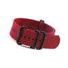 Burgundy 5-Ring Ballistic Nylon Waterproof Watch Strap with PVD Rings | Panatime.com