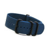 Ocean Blue 5-Ring Ballistic Nylon Waterproof Watch Strap with PVD Rings | Panatime.com