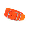 Orange 3-Ring Ballistic Nylon Watch Strap | Panatime.com