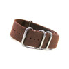 Brown Grain 4-Ring Classic Leather NATO Watch Strap | Panatime.com