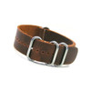 Light Brown (Distressed) 4-Ring Classic Leather NATO Watch Strap | Panatime.com