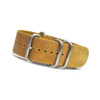 Sand (Distressed) 4-Ring Classic Leather NATO Watch Strap | Panatime.com