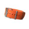 Orange NBR-Rubber Waterproof NATO Watch Strap | Panatime.com