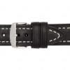 18mm Black Hirsch Liberty - Vegetable Tanned Vintage Leather | Panatime.com