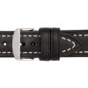 20mm Black Hirsch Liberty - Vegetable Tanned Vintage Leather | Panatime.com