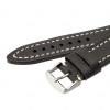 22mm Black Hirsch Liberty - Vegetable Tanned Vintage Leather | Panatime.com