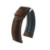 20mm Brown Hirsch James - Hirsch Performance Series Vegetable Tanned Italian Calfskin Watch Strap with Premium Caoutchouc Lining | Panatime.com