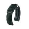 18mm Black Hirsch Tiger - Hirsch Performance Series Perforated Calfskin Watch Strap | Panatime.com