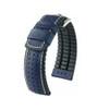 24mm Blue Hirsch Tiger - Hirsch Performance Series Perforated Calfskin Watch Strap | Panatime.com