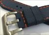 24mm Gunny Navy Canvas Watch Strap with Orange Stitching for Panerai   Panatime.com