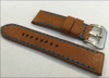 24mm Panatime Prestige Cognac Handmade Genuine Horween Leather Watch Strap with Blue Stitching | Panatime.com