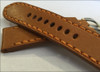24mm Panatime Prestige Cognac Handmade Genuine Horween Leather Watch Strap with Orange Stitching | Panatime.com