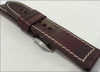 24mm Dark Burgundy Chromexcel Vintage Leather Watch Strap | Panatime.com
