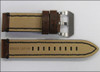 24mm Vintage Tobacco Genuine Leather Watch Strap with Black Stitching | Panatime.com