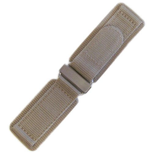 24mm Khaki Velcro Watch Strap with Stainless Steel Hardware For Bell & Ross | Panatime.com