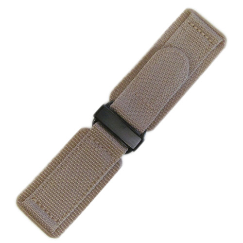 24mm Khaki Velcro Watch Strap with PVD Hardware For Bell & Ross | Panatime.com