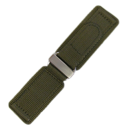 24mm Olive Velcro Watch Strap with Stainless Steel Hardware For Bell & Ross | Panatime.com