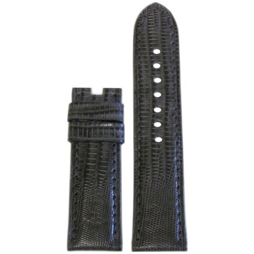 24mm Stone Teju Lizard Watch Strap with Match Stitching for Panerai Deploy | Panatime.com