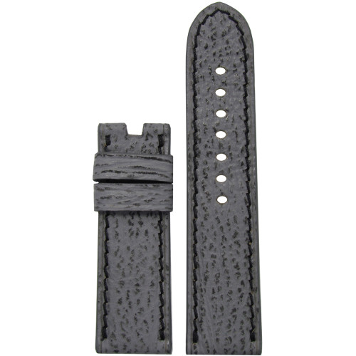 24mm Stone Shark Watch Strap with Black Stitching for Panerai Deploy | Panatime.com