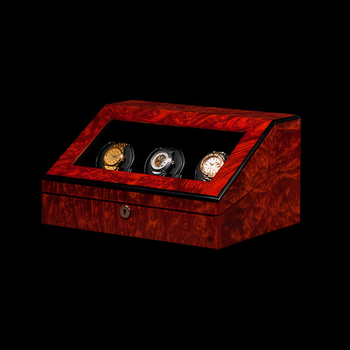 Orbita Burl Siena | 3 Watch Winder | Panatime.com