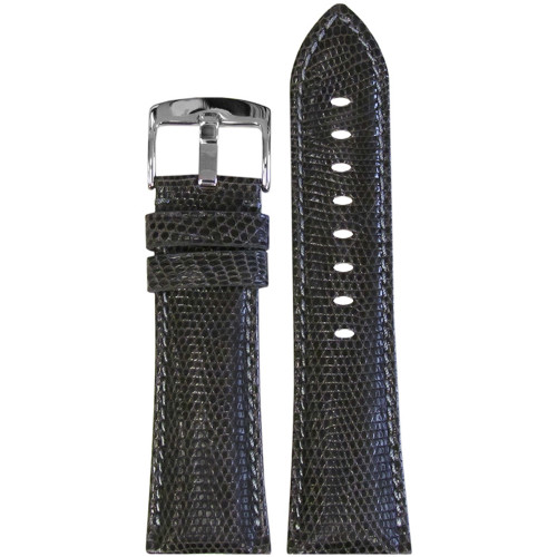 26mm Grey Lizard Watch Strap with Match Stitching for Panerai Radiomir | Panatime.com