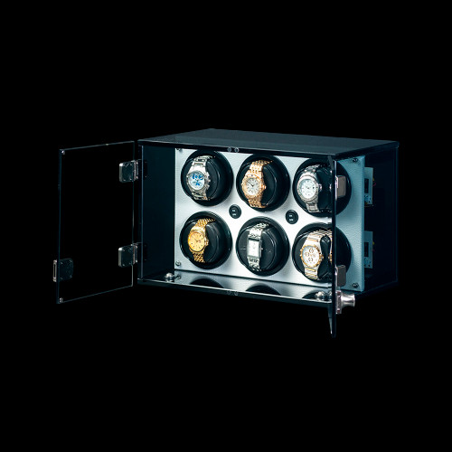 Orbita Milano 6 Watch Winder | White Leatherette Trim | Panatime.com