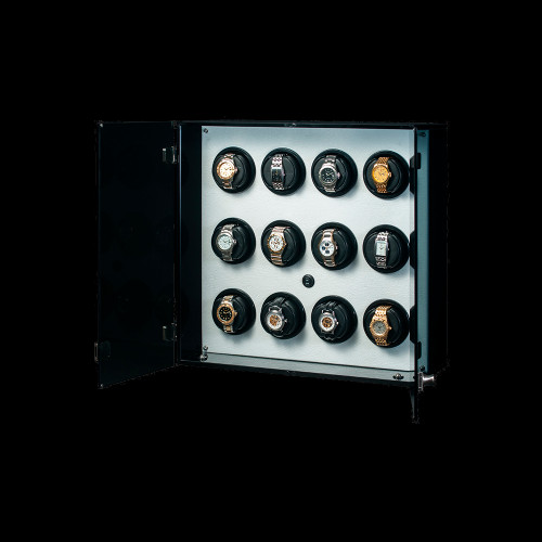 Orbita Milano 12 Watch Winder | White Leatherette Trim | Panatime.com