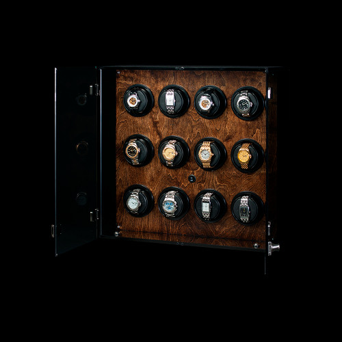 Orbita Milano 12 Watch Winder | Walnut Wood Finish | Panatime.com