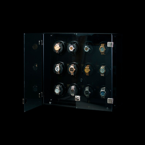 Orbita Milano 12 Watch Winder | Smoked Acrylic Trim | Panatime.com