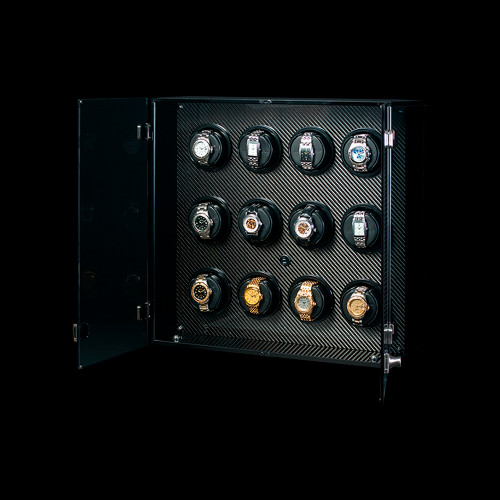 Orbita Milano 12 Watch Winder | Carbon Fiber Trim | Panatime.com