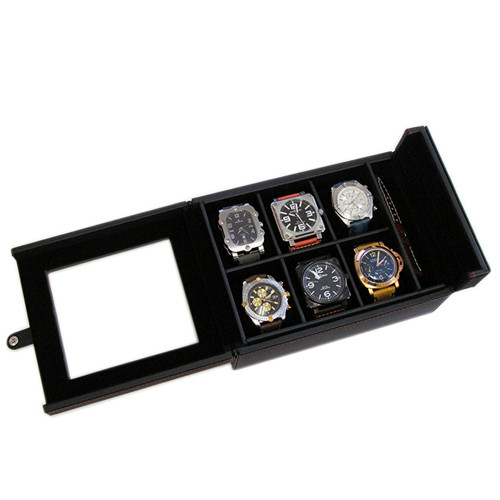 Watch Box for 6 Watches - Open | Panatime.com
