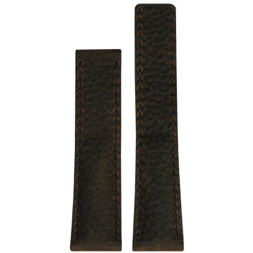 20mm Brown Deep Oil Watch Strap with Match Stitching for Breitling Deploy (20x18) | Panatime.com