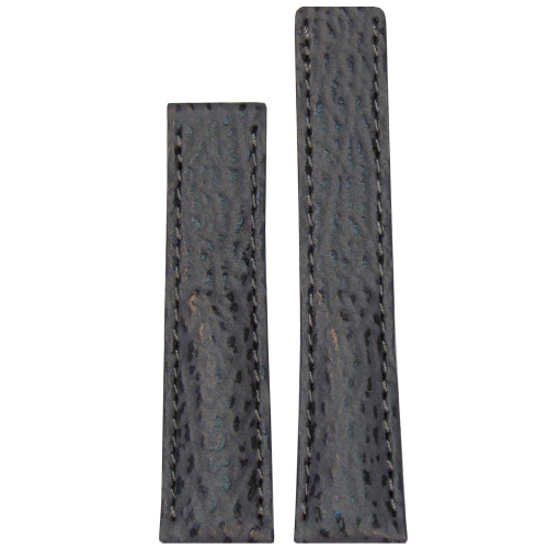 20mm Grey Genuine Shark Watch Strap with Match Stitching for Breitling Deploy (20x18) | Panatime.com