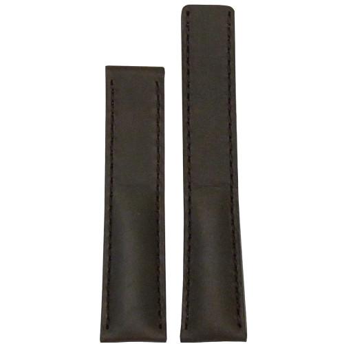 "22mm Dark Brown ""Loco"" Horse - Match Stitch for Breitling Deploy (22x20) | Panatime.com"