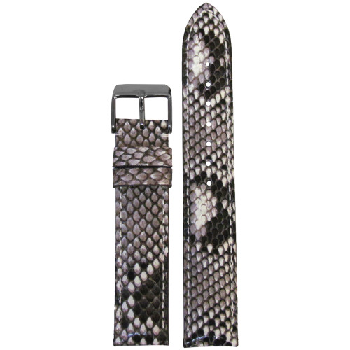18mm Hadley Roma LS2020  White Genuine Python Skin Ladies Watch Strap with Match Stitching | Panatime.com