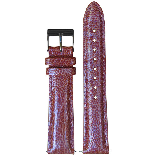 16mm Pink Genuine Ostrich, Handmade Watch Strap with Match Stitching (for Michele) | Panatime.com