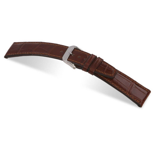 RIOS1931 Mahogany Spitfire Genuine Alligator Watch Strap For IWC | Panatime.com