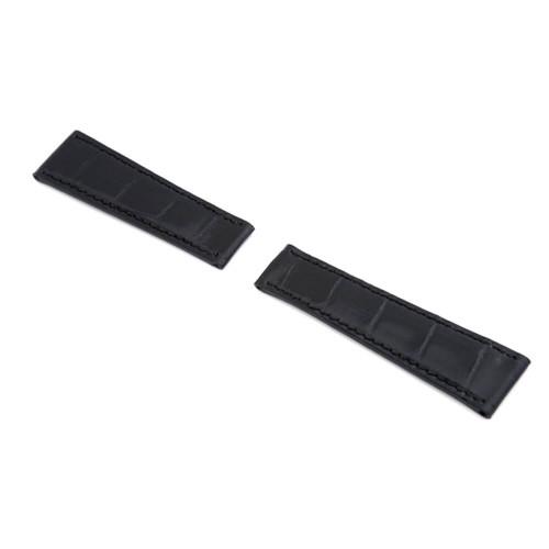 RIOS1931 Black Prince, Genuine Alligator Watch Strap For Rolex Daytona | Panatime.com