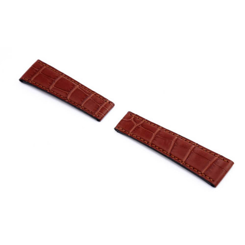 RIOS1931 Mahogany King, Genuine Alligator Watch Strap For Rolex Daytona | Panatime.com